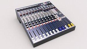 3D Soundcraft EFX8 Mixing Console