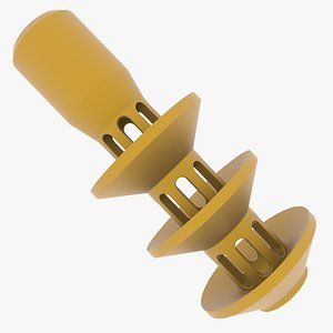3D 128 mm model