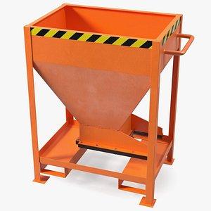 Forklift Silo Container Orange 3D model
