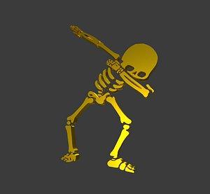 skeleton logo 3D model