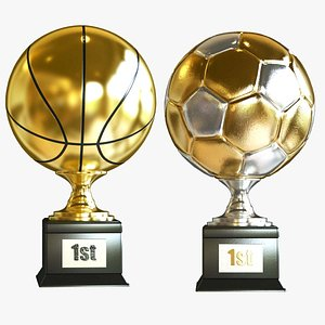 3D Soccer and Basketball Award Collection