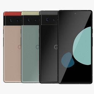 3D model Google Pixel 6 All Colors