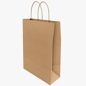 3D Paper Bag 1 With PBR 4K 8K