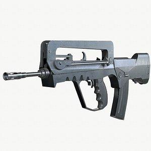 Famas G2 PBR Worn Low-poly 3D model 3D model