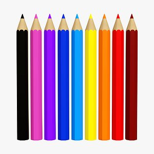 3D pencil set color