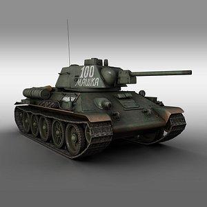 3D model ot-34 t-34-76 t-34