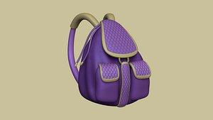 female backpack - character model