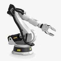 Cinema 4D Rigged Industrial Robotic arm