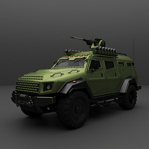 Armored suv 3D model