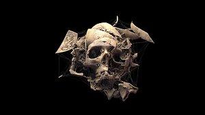spider webs skull 3D