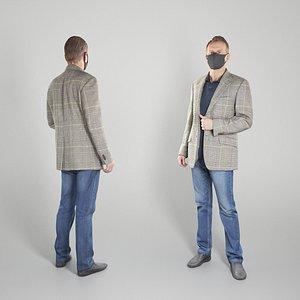 3D photogrammetry human man casual model