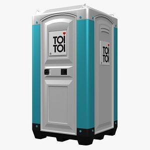 europe public toilet 3D model