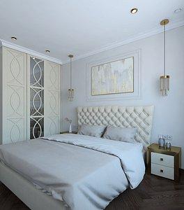 Wonderful guest bedroom 3D model