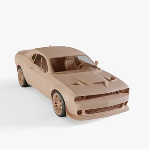 3D 2018 Dodge Challenger SRT