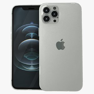 iphone 12 pro silver 3D model
