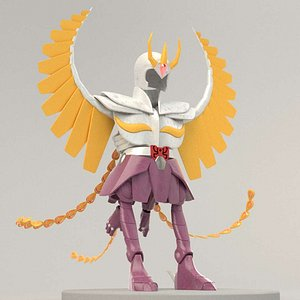 Ikki Phoenix Cloth - Saint Seiya - 3D model