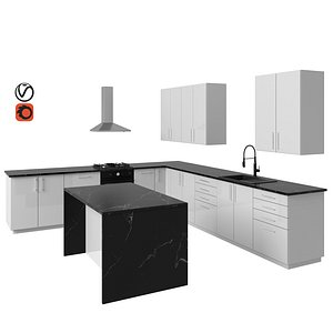 3D model ringhult kitchen