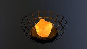 3D model Low Poly Fire Bowl