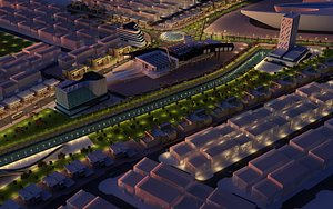 3D city saudi arabia model