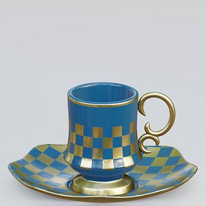 cup turkish 3D model