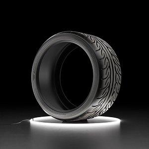 Car tire Yokohama ADVAN NEOVA AD08R 3D model