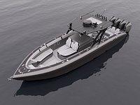Motorboat Black