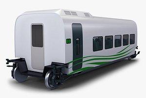 3D model speed railway passenger car