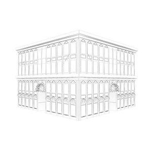 3D building architecture mall model