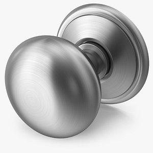 door knob steel 3D model