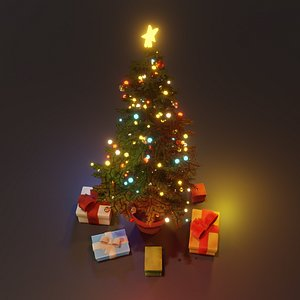 gifts christmas tree 3D model