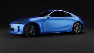 3D Nissan  350z Car