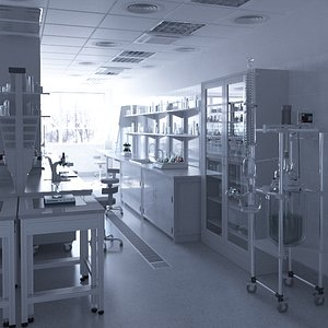 3D model lab laboratory