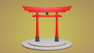 3D japanese japan gate