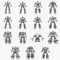 GundamMobile Suit Earth Federation X Zeon Collection