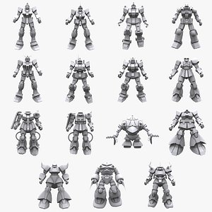 3D gundam mobile suit