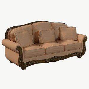 sofa old 3d obj