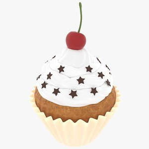 3D realistic cupcakes cake model