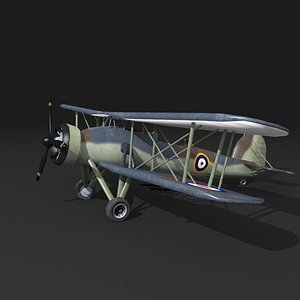 3D fairey swordfish plane MK-1 model