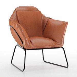 3D armchair chair leather model