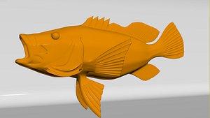 3D model bass fish