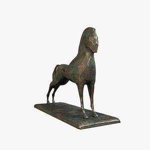 3D Sculpture Horse V2 model