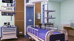 3D hospital room interior