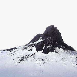 3D Snowy Mountain 001