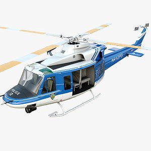 Bell-412 NYPD Detailed cockpit 3D model
