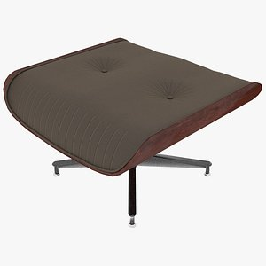 3D eames ottoman fabric mahogany model