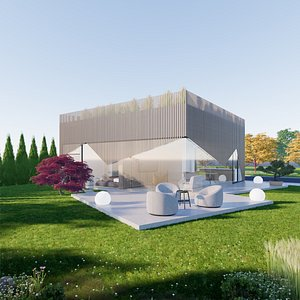 House 11 - Created with fully parametric Revit Families 3D model