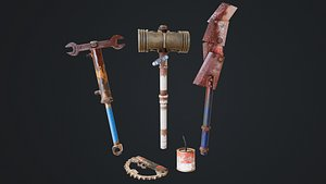 Post Apocalyptic Weapon Pack model