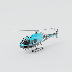3D as350 helicopter