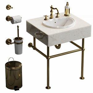 3D Bathroom set Migliore