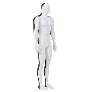 man mannequin black 3D
